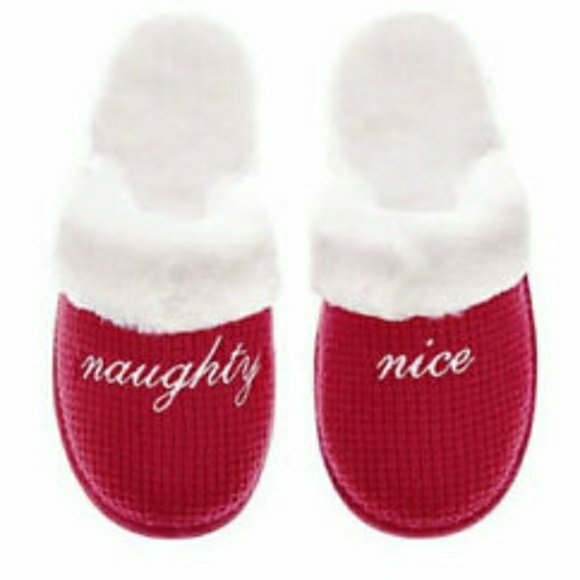Victoria's Secret Shoes - Victoria's Secret Christmas naughty nice slippers